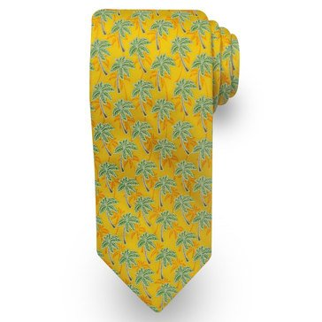 American Lifestyles Coastal Palm Trees Tie - Yellow