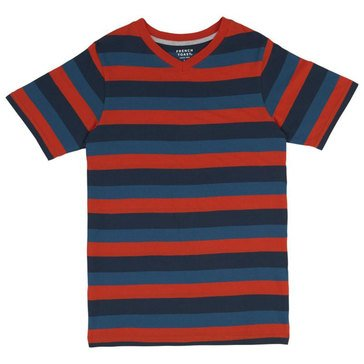 French Toast Toddler Boys' Stripe Vneck Tee, Green