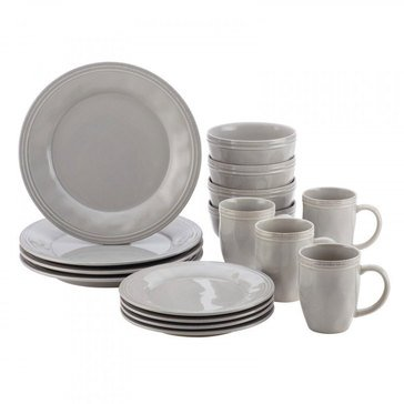 Rachael Ray Cucina Grey 16-Piece Dinnerware Set