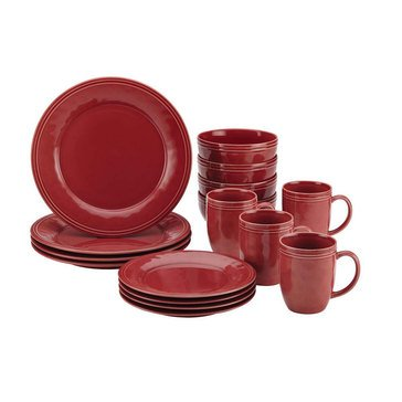Rachael Ray Cucina Red 16-Piece Dinnerware Set