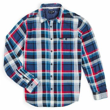 Ocean Current Men's Long Sleeve Roots Big Plaid Flannel Shirt