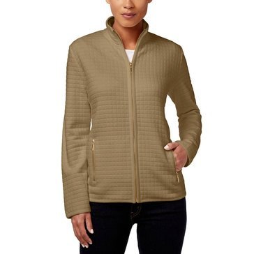 Karen Scott Quilted Fleece Jacket