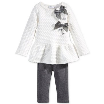 First Impressions Baby Girls' Dot Jacquard Set