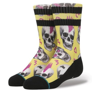 Stance Little Boys' Skeletron Socks, Size 2.5-5