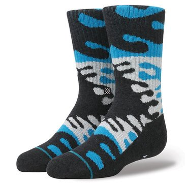 Stance Little Boys' Blurby Socks, Size 2.5-5