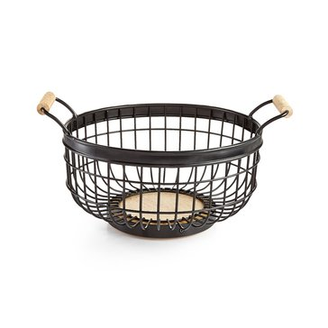 Martha Stewart Collection Black Wire Basket