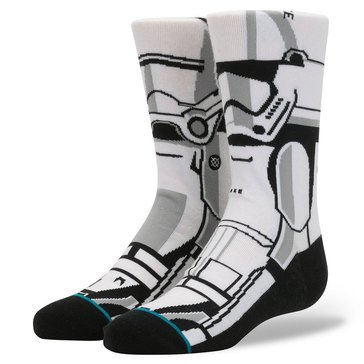 Stance Little Boys' Star Wars Trooper Socks, Size 2.5-5