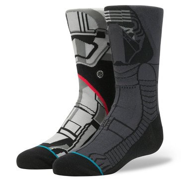 Stance Little Boys' Star Wars First Order Socks, Size 2.5-5