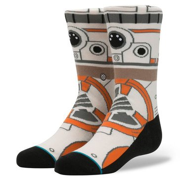 Stance Little Boys' Star Wars BB8 Socks, Size 2.5-5