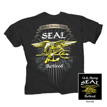 NavalTees Men's Seal Retired Tee