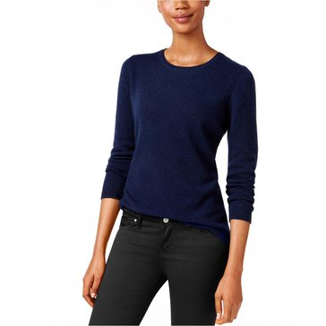 Charter Club Long Sleeve Crewneck Sweater in Admiral Blue