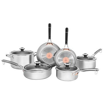 Revere Copper Confidence Core Stainless Steel 10-Piece Cookware Set