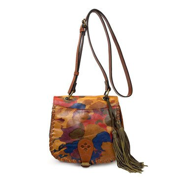 Patricia Nash Karisa Saddle Bag Parisian Camo