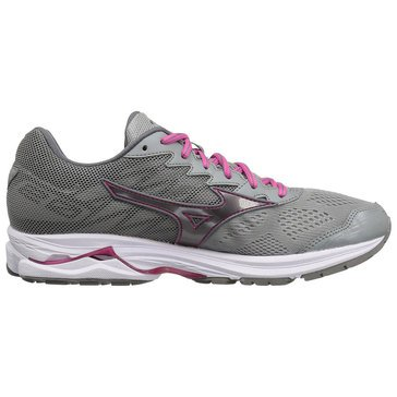 Mizuno Wave Rider 20 women's Running Shoe Griffin/ Fuchsia Purple/ White