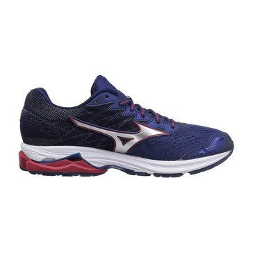 Mizuno Wave Ride 20 Men's Running Shoe Blue Depths/ Silver/ Chinese Red