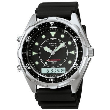 CASIO MNS SP PRCH DIVE ANA DIGI ALRM BLK STRP 48MM WATCH FL16
