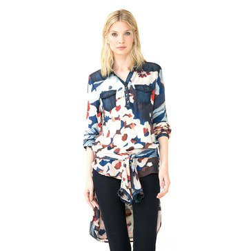 Desigual Long Sleeve Button Down Shirt in Multi
