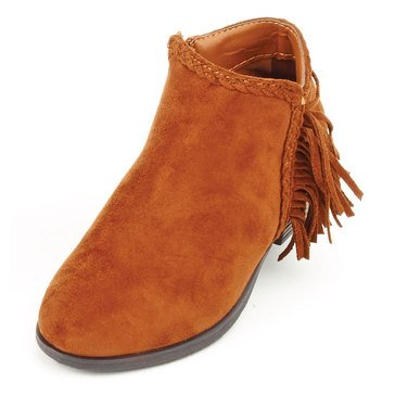Pierre Dumas Kids Zury-2 Girl's Suede Bootie - New Tan