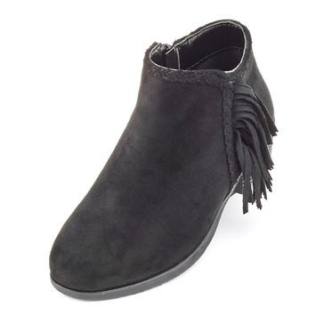 Pierre Dumas Kids Zury 2 Girls' Suede Bootie Black