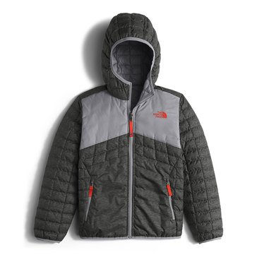 The North Face Big Boys' Thermoball Hoodie, Graphite Grey Pixelated Heather