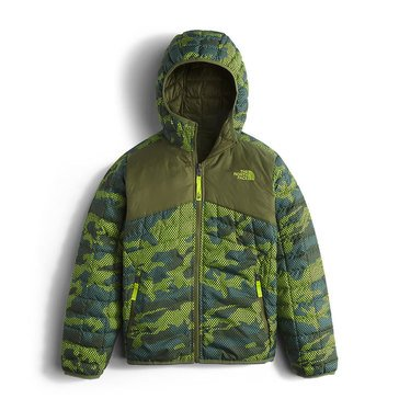The North Face Big Boys' Thermoball Hoodie, Terrarium Green Mesh Camo
