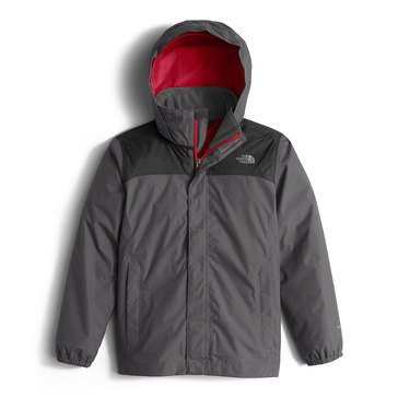 The North Face Big Boys' Resolve Rain Jacket, Graphite Grey