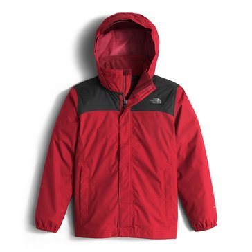 The North Face Big Boys' Resolve Rain Jacket, TNF Red