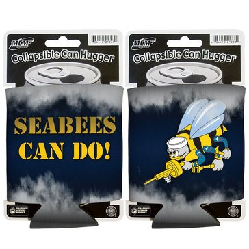 Seabees Can Hugger, Navy/White