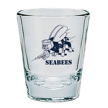 Seabees Clear Shot Glass