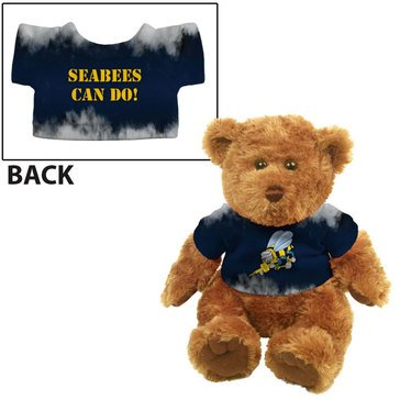 Seabees Trad Plush Bear, Navy/Gold