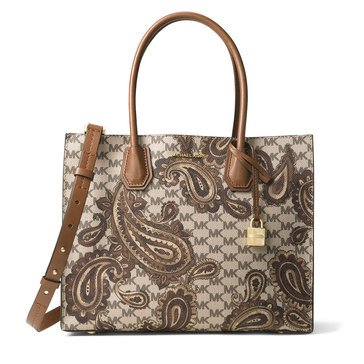Michael Kors Paisley Mercer Large Convertible Tote Luggage