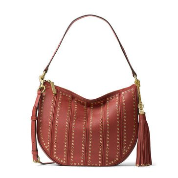 Michael Kors Brooklyn Grommet Medium Convertible Hobo Brick