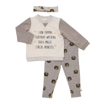 Rosie Pope Baby Girls' Lion Taming 3-Piece Pant Set