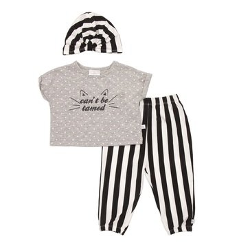 Rosie Pope Baby Girls' Can't Be Tamed 3-Piece Pant Set