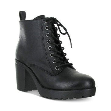 Mia Kat Women's Lace Up Boot Black
