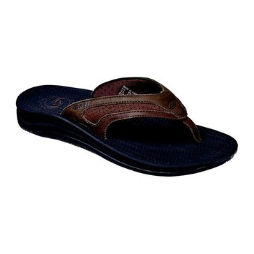 Reef Flex Men's Leather Thong Sandal Black/ Brown