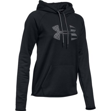 Under Armour Women's Tonal BFL Poly Black Hoodie