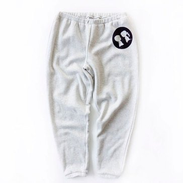 Boy Meets Girl Silhouette Circle Sweatpant in Heather Grey