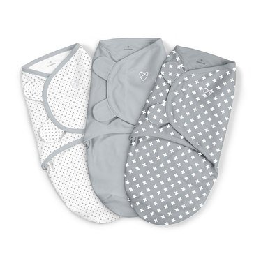SwaddleMe Swaddle, Criss Cross Polka Dots, 3-Pack