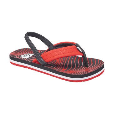 Reef Ahi Boys' Thong Sandal Red
