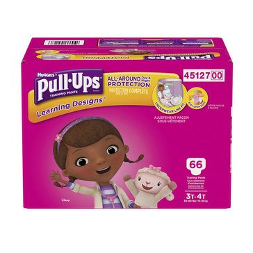 Pull Ups Girls' Training Pants - Size 3T/4T, 66-Count