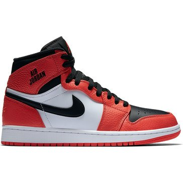 Jordan Air Jordan 1 Retro High Men's Basketball Shoe Max Orange/ Black