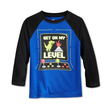 Epic Threads Little Boys' Long Sleeve Dino Game Tee