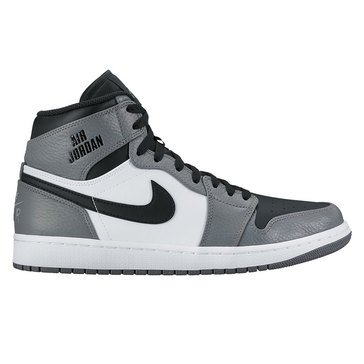 Jordan Air Jordan 1 Retro High Men's Basketball Shoe Cool Grey/ Black/ White