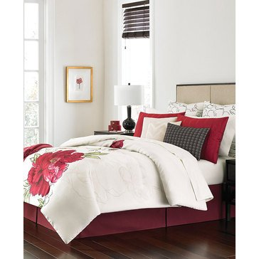 Martha Stewart Collection Plum Blossom 14-Piece Comforter Set - Queen