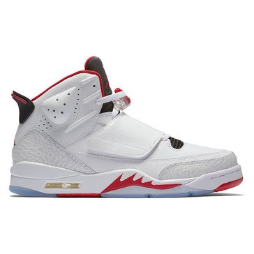 Jordan Son of Mars Low Men's Basketball Shoe White/ Gym Red/ Black/ Pure Platinum