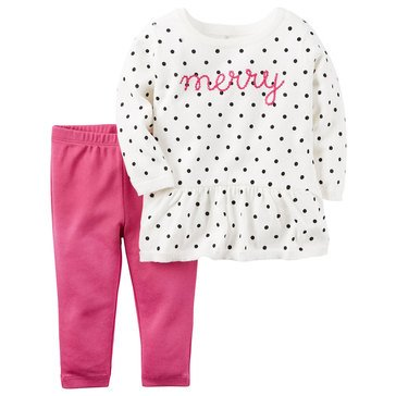 Carter's Baby Girls' Merry Sweater & Pants 2-Piece Set