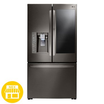LG 30 Cu.Ft. InstaView Door-in-Door Refrigerator, Black Stainless Steel (LFXS30796D)