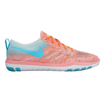 Nike Free TR Focus Flyknit Women's Training Shoe Bright Melon/ Polarized Blue/ Glacier Blue