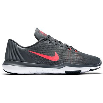 Nike Flex Supreme TR Women's Training Shoe Dark Grey/ Hot Punch/ White/ Black